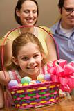 Girl with Easter basket.