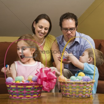 Family at Easter.
