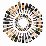 Wine bottles composition
