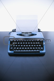 Old fashioned typewriter.