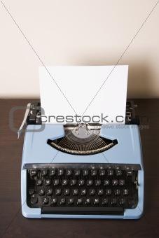 Old fashioned typewriter.