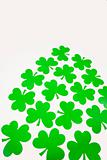 Green paper shamrocks.