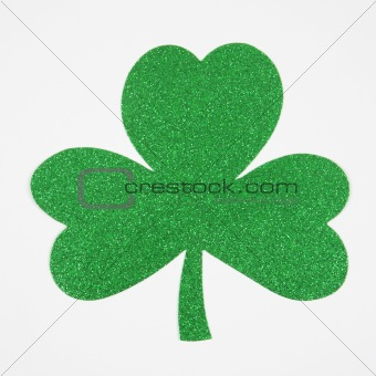 Green glitter shamrock.