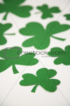 Green glitter shamrocks.