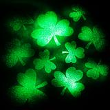 Green glitter shamrocks.
