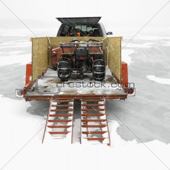 Trailer with ATV.