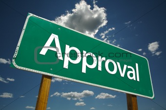 Approval Road Sign