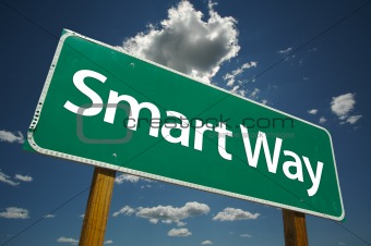 Smart Way Road Sign