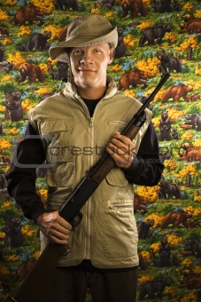 Man holding rifle.