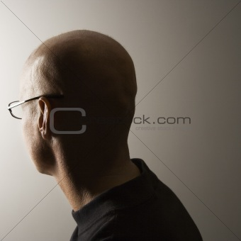 Back of man's head.
