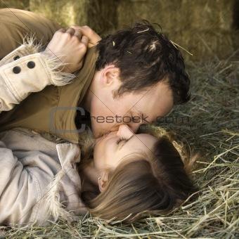 Kissing couple.