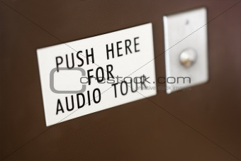 Button for audio tour.