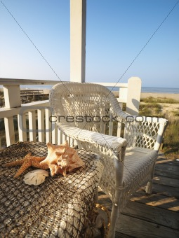 Beach deck.