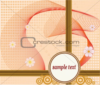 Abstract floral art design vector illustration