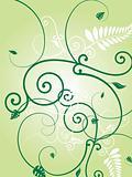 floral green burst