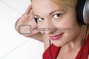 Woman listetning to music