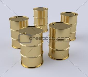 Gold barrels