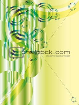 Green abstract vector with glitters and copyspace