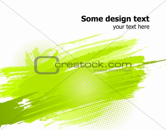 Green abstract paint splashes background. Vector