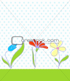 Baby seamless floral background