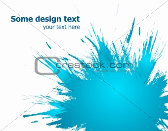 Blue paint splashes background. Vector illustration