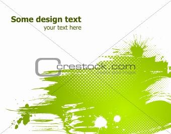 Green abstract vector illustration.