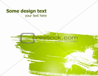 Green abstract vector illustration.