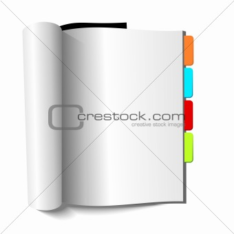 Blank magazine with book-marks