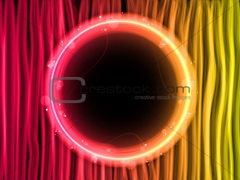 Abstract Red Lines Background with Black Circle