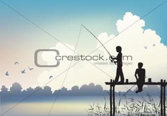 Fishing scene