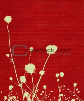 Long-stemmed meadow flower silhouette