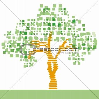 Tree abstract vector illustration