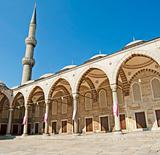 Inner courtyard of the Blue Mosque in Istanbul