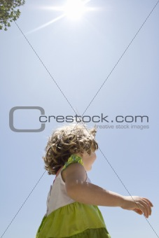 Little girl in a summer dress