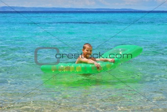 Boy with float