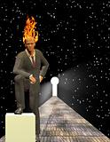 Burning Mind Businessman