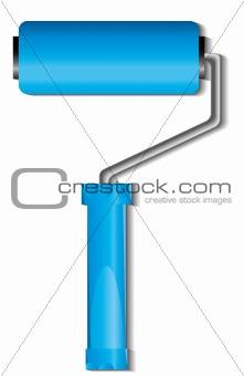 Blue paint roller brush