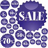 Blue Sale badges
