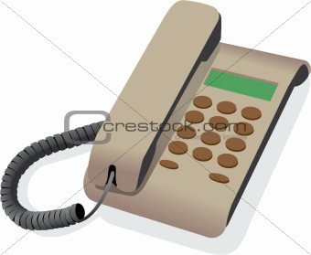 classical wired telephone