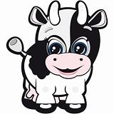 Vector Little cow - one of the symbols of the Chinese horoscope.