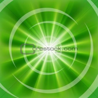 Bright Green rays