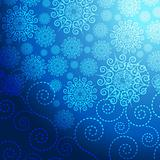 EPS Christmas blue background