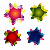 Set of multicolor abstract vector illustrations