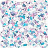 abstract background with blue and pink circles
