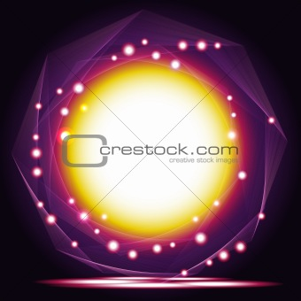 Abstract vector Magic Frame.