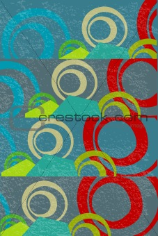 Abstract background with geometrical objects