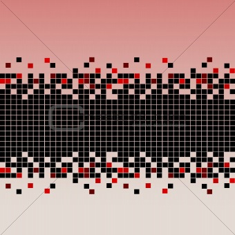 Abstract background with mosaic in red tones