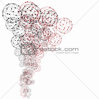 Abstract background with spheres
