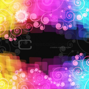 bright abstract background - vector illustration.