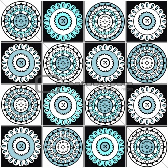 Abstract blue decoration elements
